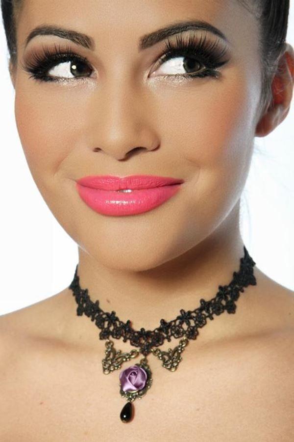 necklace gothic lace ornaments black.