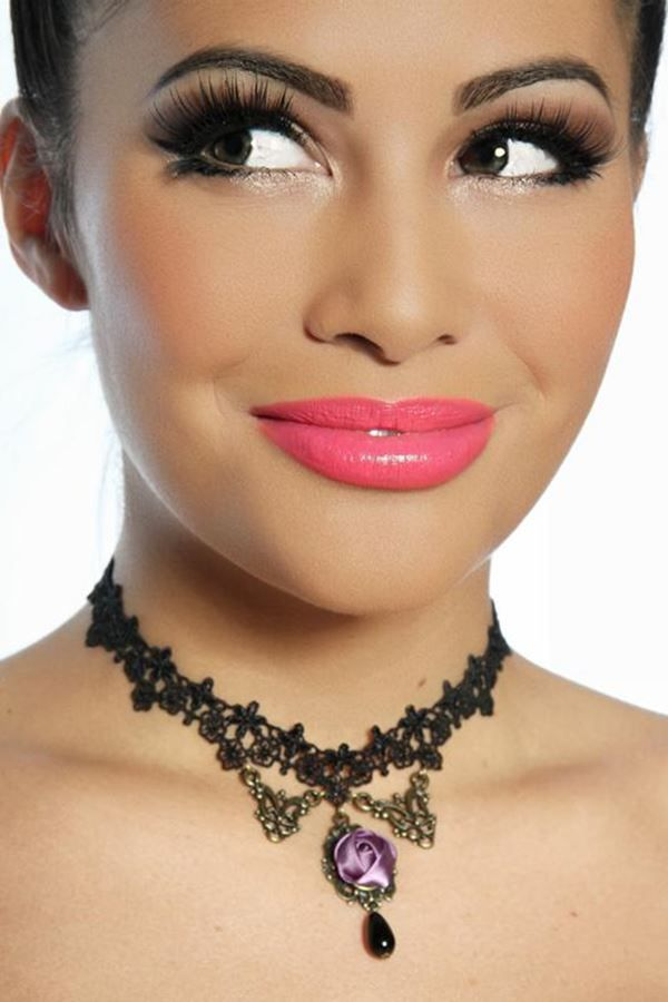 NECKLACE GOTHIC LACE ORNAMENTS BLACK AT1312732