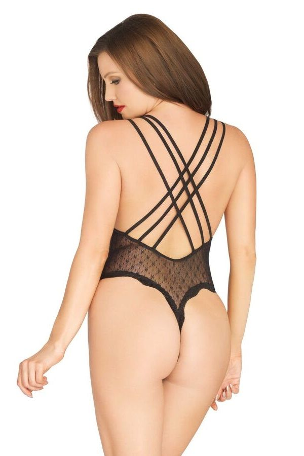 BODY LINGERIE STRAPS STRING LACE BLACK DRED223301