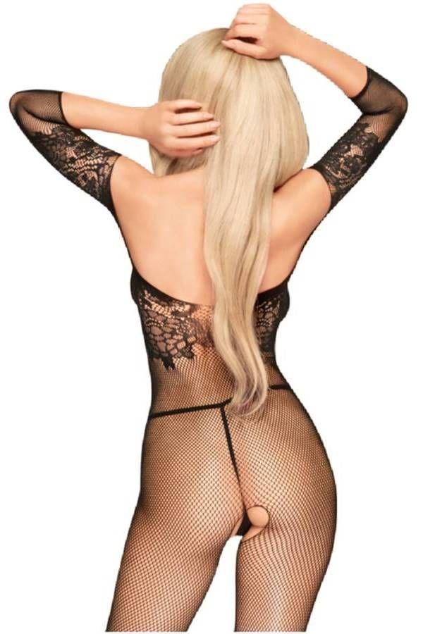 Bodystocking Net Open Crotch Black DRED227531