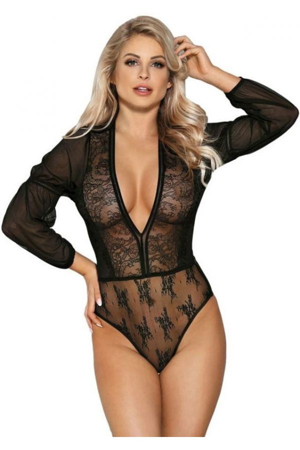 body lingerie long sleeves black.