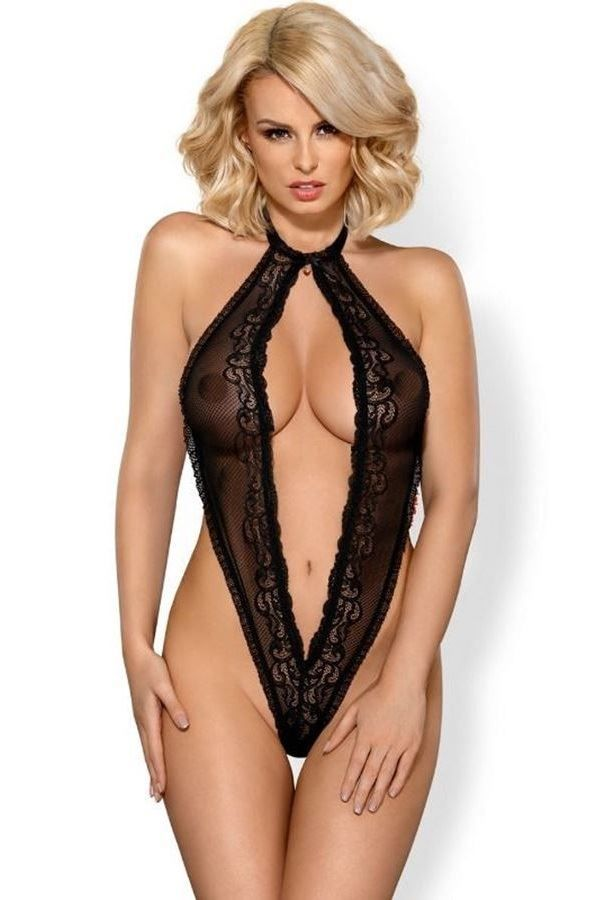 BODY LINGERIE OPEN LACE BLACK DRED215251