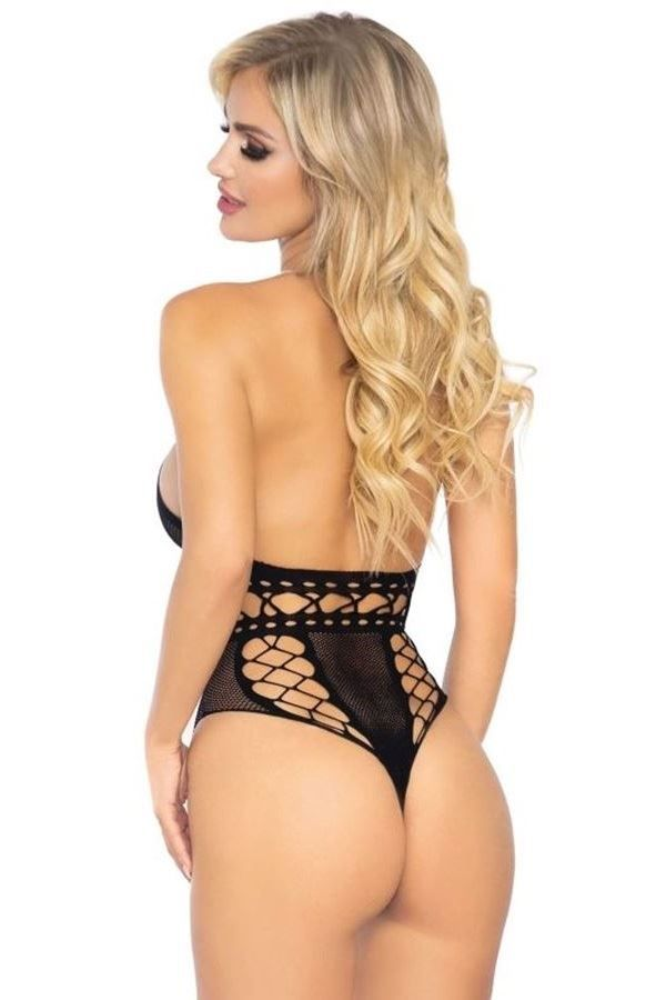 body lingerie net string black.