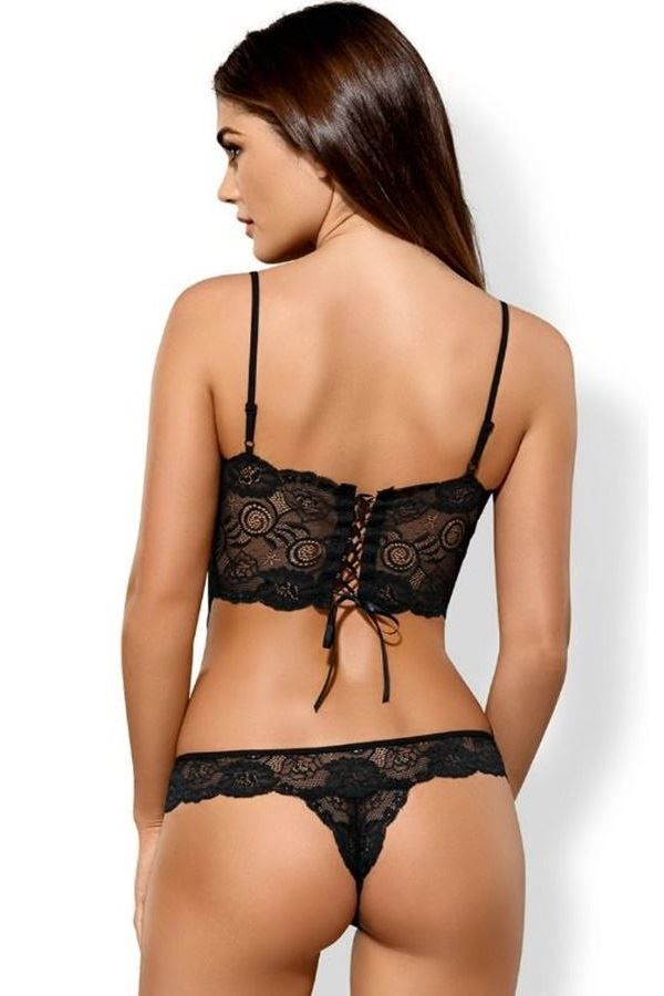 BODY LINGERIE SEXY LACE BLACK DRED211265