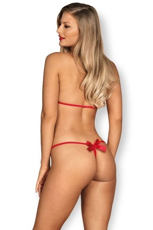 BODY LINGERIE STRAPS CORD SATIN RED DRED221913