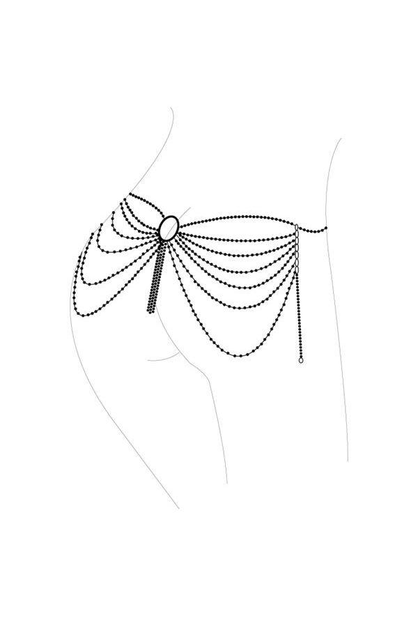 κόσμημα ασημί αλυσίδα σώματος και μέσης.