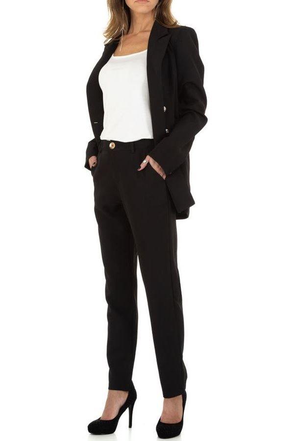 κοστούμι σταυρωτό σακάκι παντελόνι μαύρο.