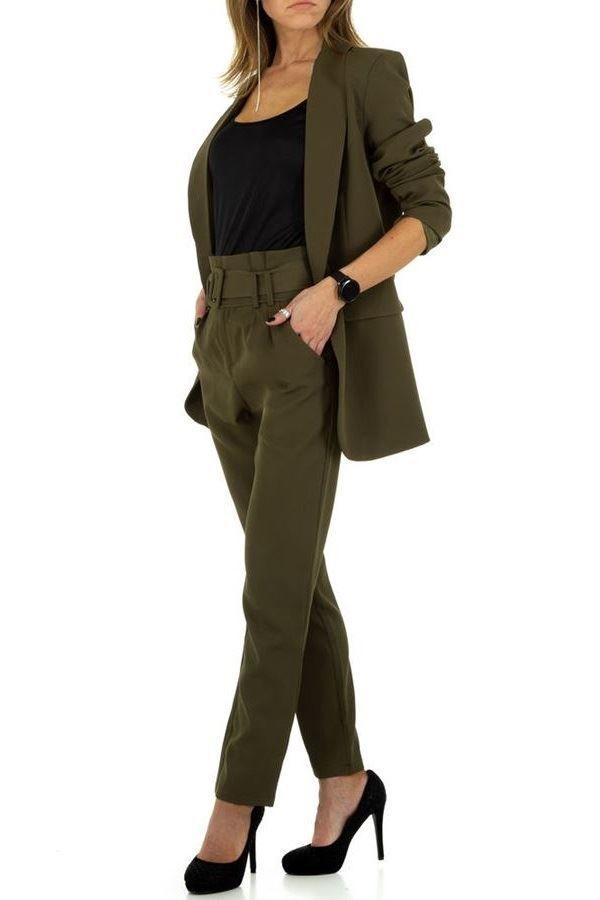 κοστούμι σακάκι παντελόνι λαδί.