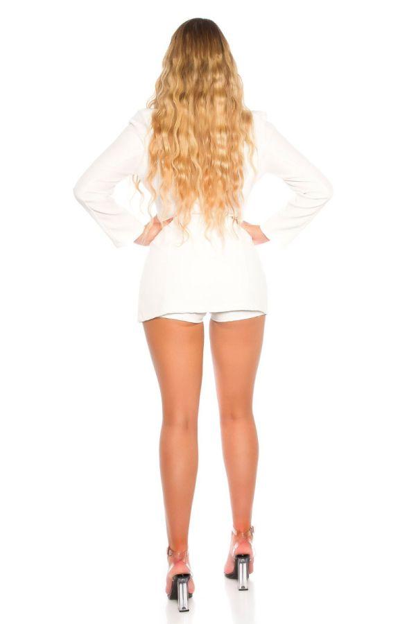 costume evening set blazer shorts white.