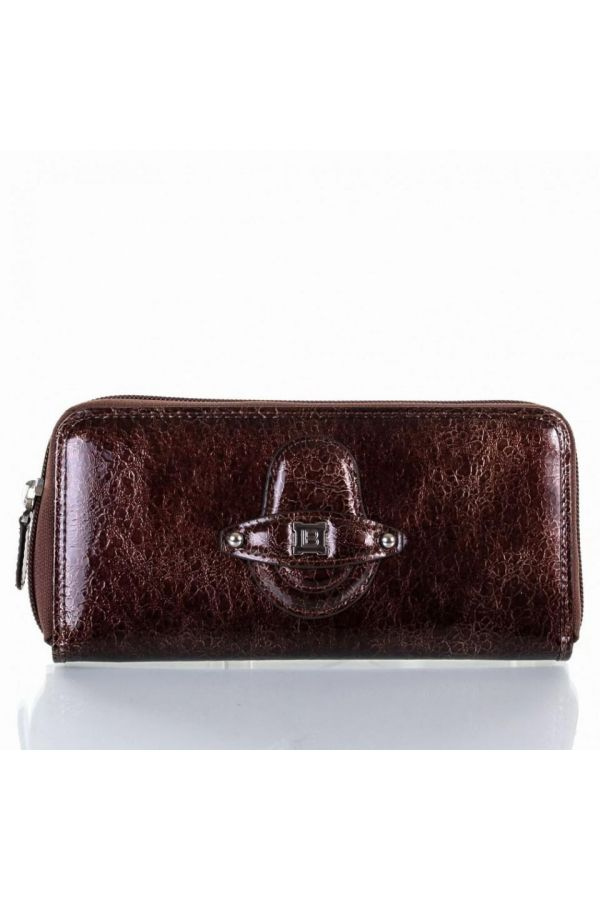 womens wallet laura biagiotti original with cases brown