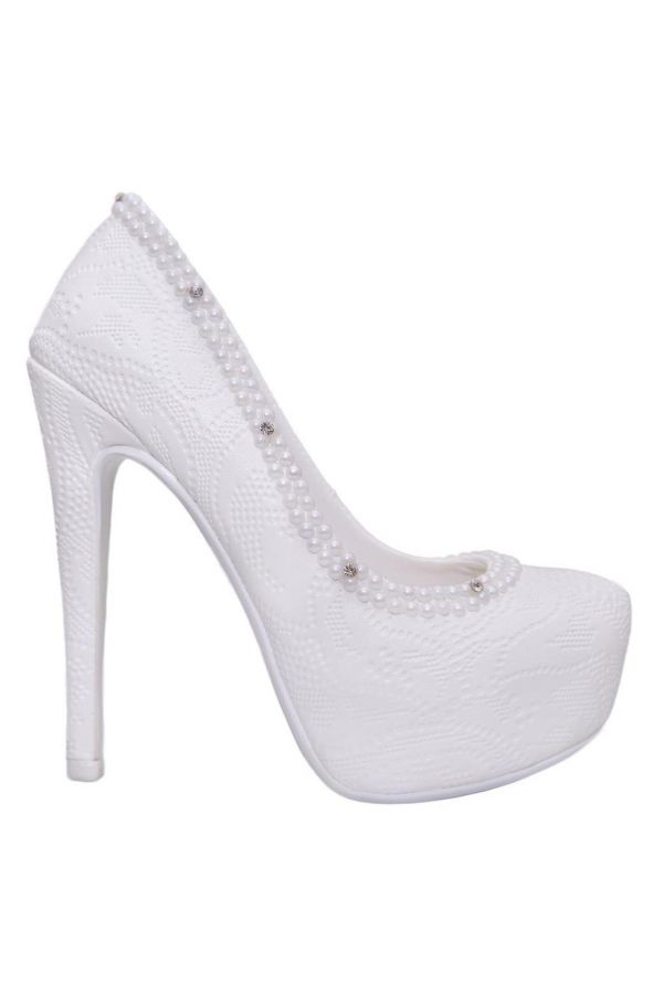 LSP532140 PUMP BRIDAL WHITE