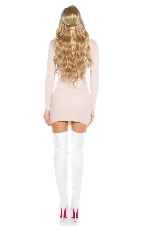 μπότες ψηλές γόνατο ψηλοτάκουνες με φιάπα άσπρες σέξι