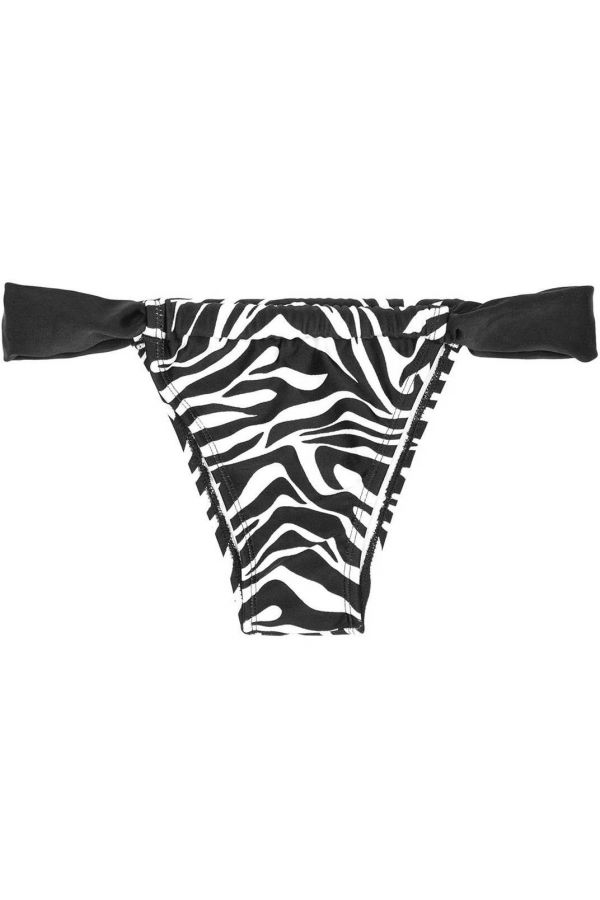 brazilian swimsuit bottom brief zebra black white.