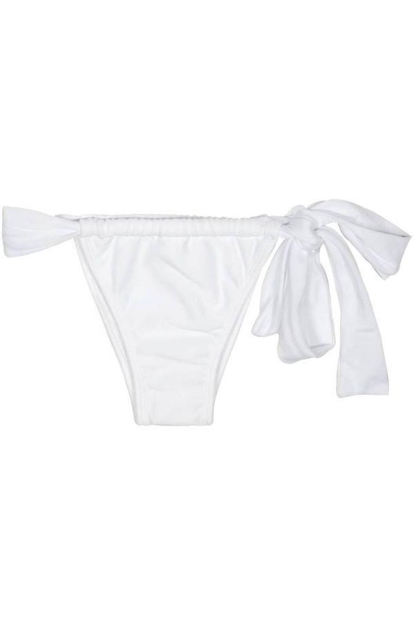 brazilian swimsuit bottom brief tied side white.
