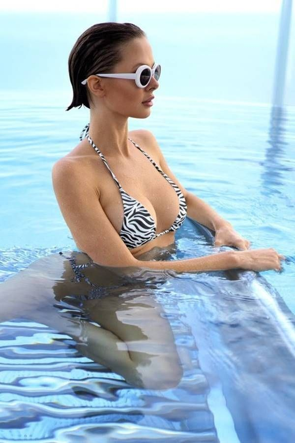 swimsuit bikini micro string sexy zebra.