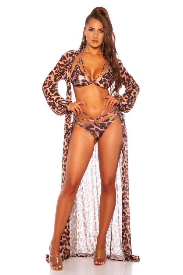 bikini brazilian swimsuit cut outs leopard.