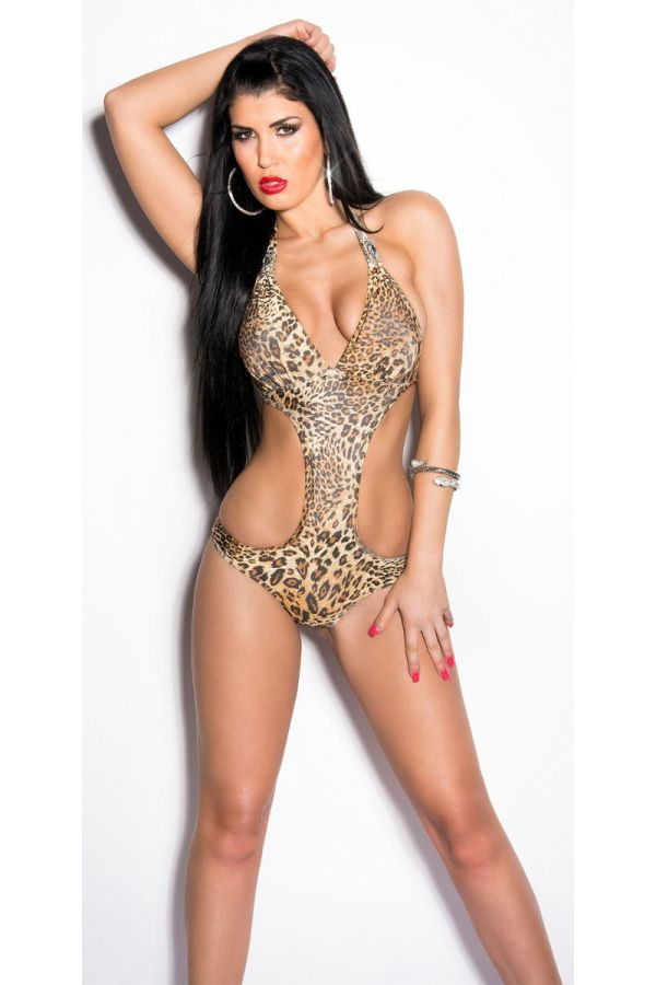 SWIMSUIT ONE PIECE SEXY DECORATION LEOPARD ISDE86700
