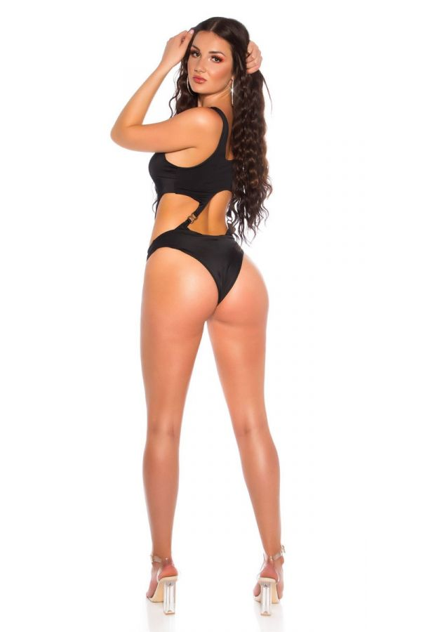 SWIMSUIT ONE PIECE BRAZIL BACK SEXY BLACK ISDB2022369
