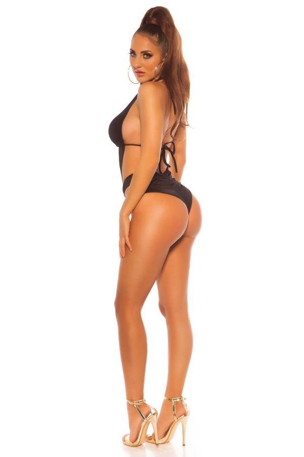 μαγιό ολόσωμο brazilian σέξυ εγκοπές μαύρο.