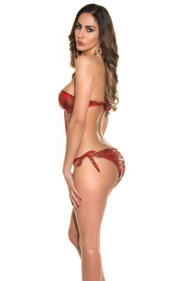 SWIMSUIT ONE PIECE SEXY RINGS SNAKE RED ISDN50170E