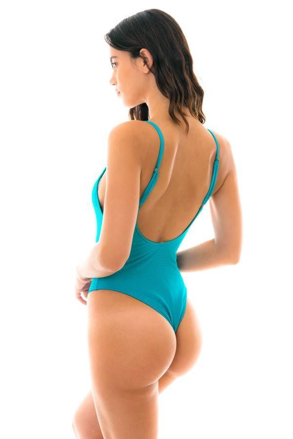 ONE PIECE STRING SWIMSUIT SEXY BLUE BR21811035812