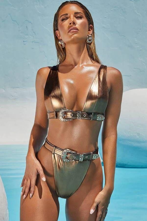 Bikini Swimsuit String Exclusive Metallic Bronze GTOCSI39I