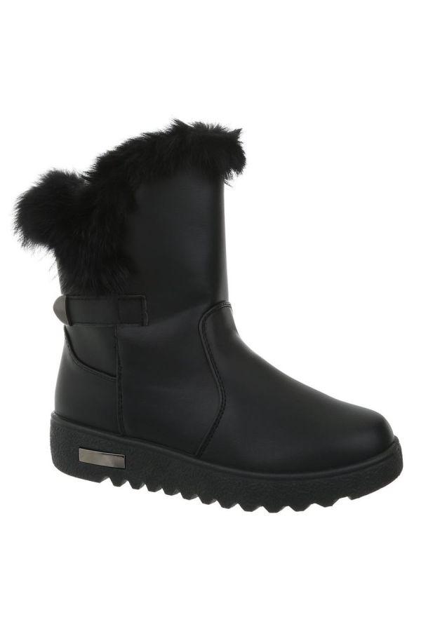 ANKLE BOOT FUR BLACK FSW11011