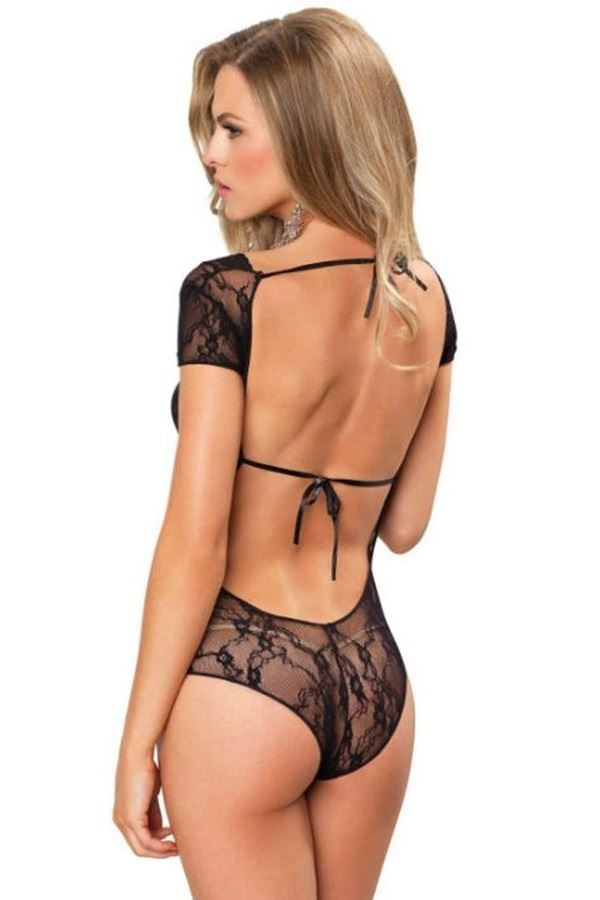 BODY SEXY FLORAL LACE BLACK DRED210591