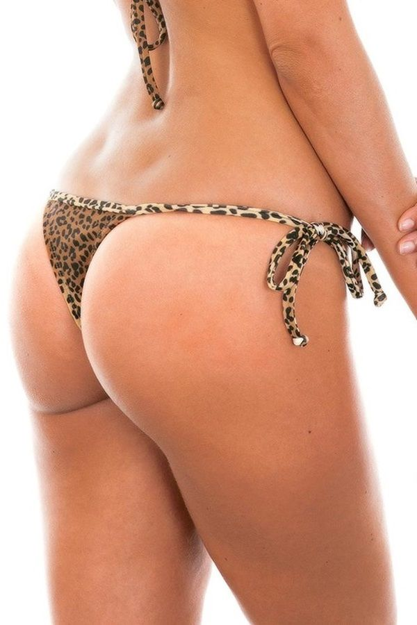 MICRO THONG SWIMWEAR BOTTOM LEOPARD BROWN BR19810952812