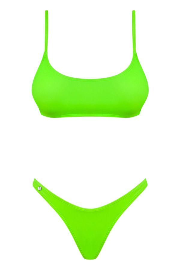 μπικίνι μαγιό σπορ στρινγκ σέξι neon πράσινο.