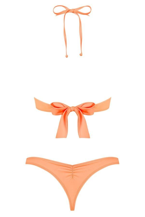 bikini swimsuit thong sexy padded coral.