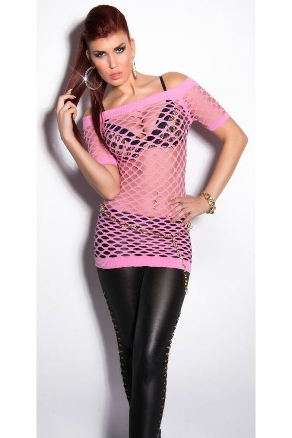 net blouse sexy pink.