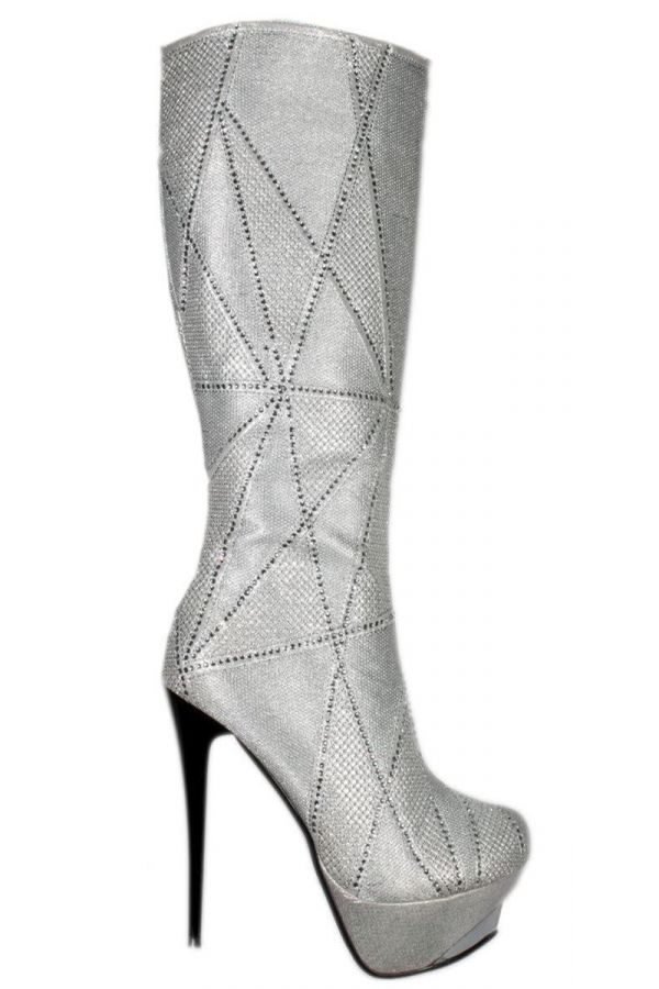 BOOTS STRASS SILVER JD10300