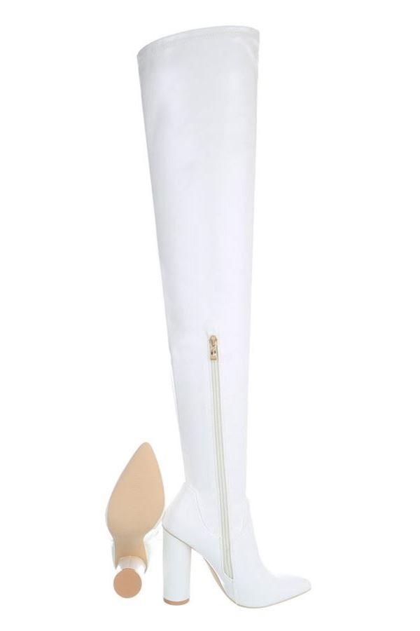FSW001411 BOOTS OVERKNEE WHITE