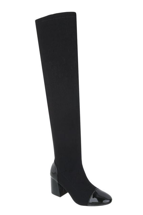 BOOT OVERKNEE BLACK FSW98911