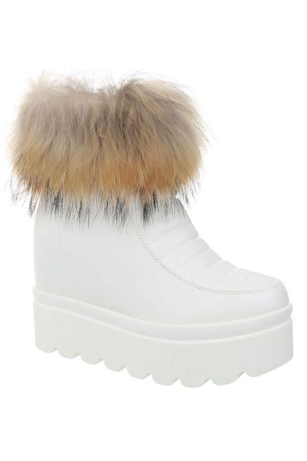ANKLE BOOT FUR WHITE FSW916711