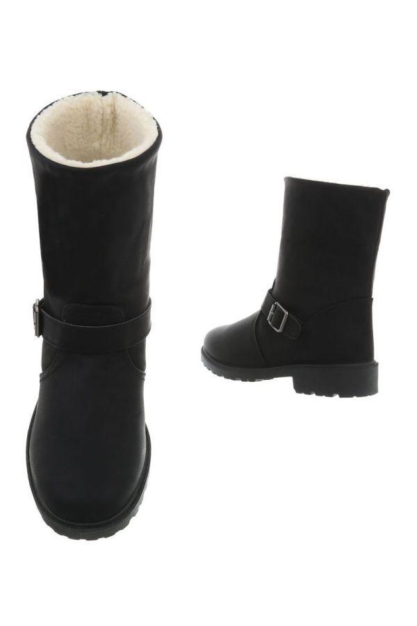 ANKLE BOOT FUR BLACK FSW92111