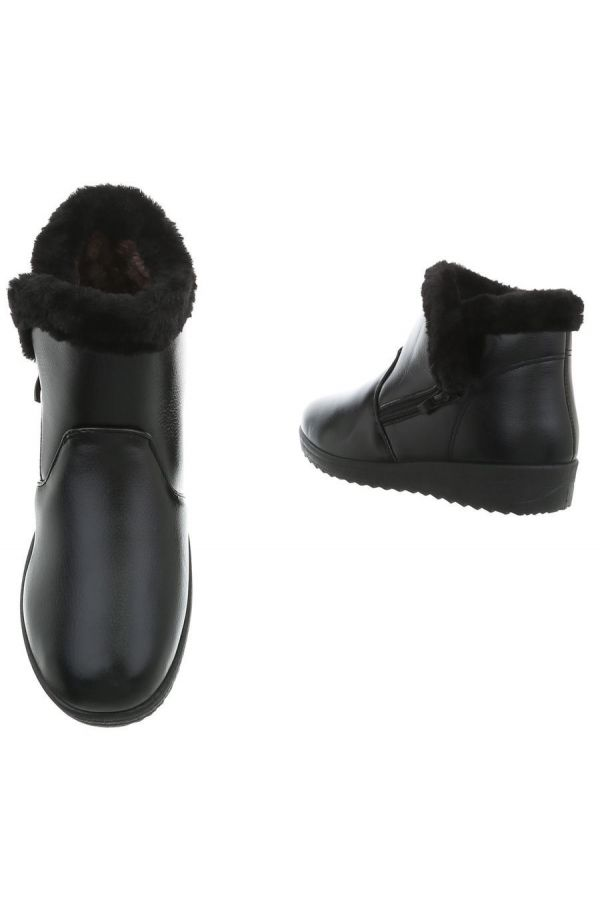 ANKLE BOOT FUR BLACK FSWP5711