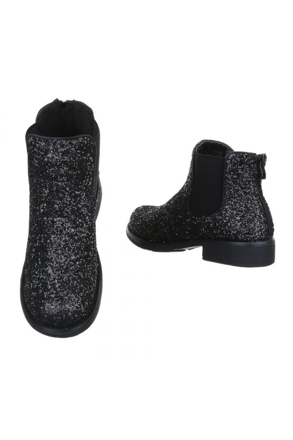 ANKLE BOOT GLITTER BLACK FSW126711