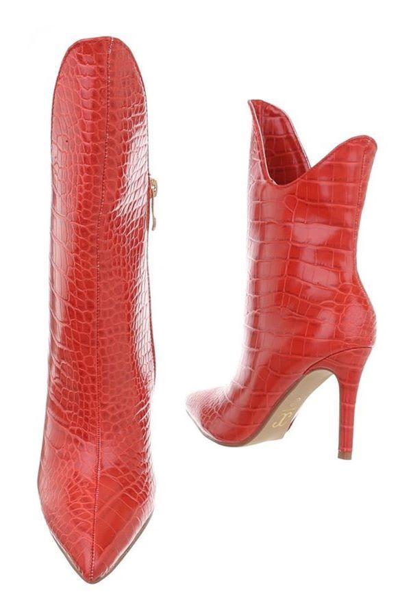 ANKLE BOOTS FORMAL EXCLUSIVE CROCO RED FSW017110