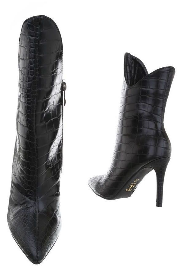 ANKLE BOOTS FORMAL EXCLUSIVE CROCO BLACK FSW017110
