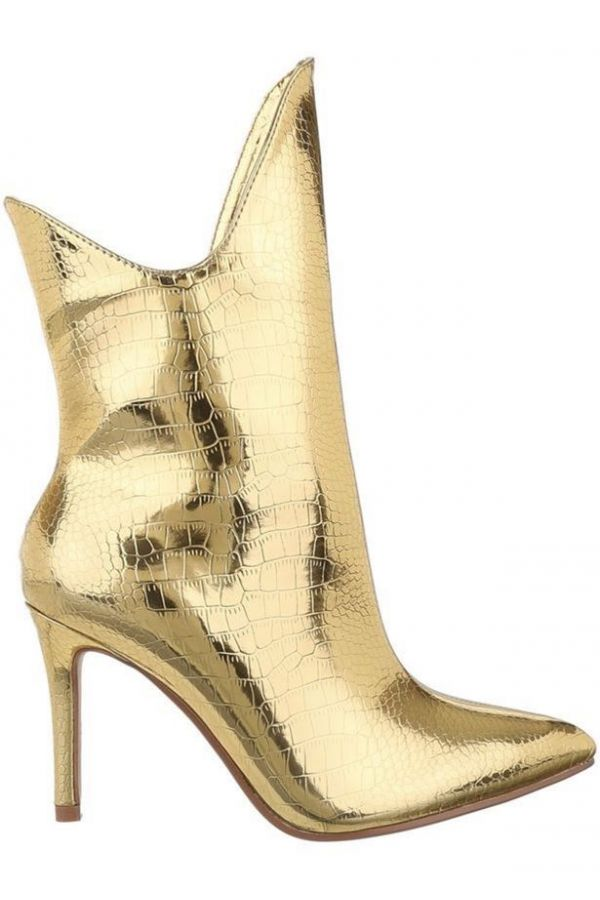 ANKLE BOOTS FORMAL EXCLUSIVE CROCO GOLD FSW017110
