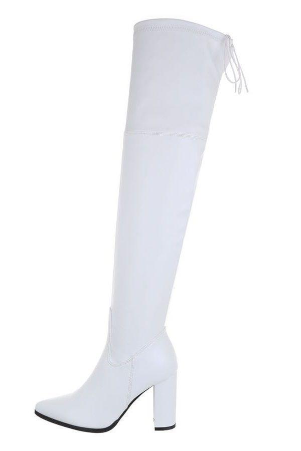 μπότες γόνατο ελαστικές άσπρες.