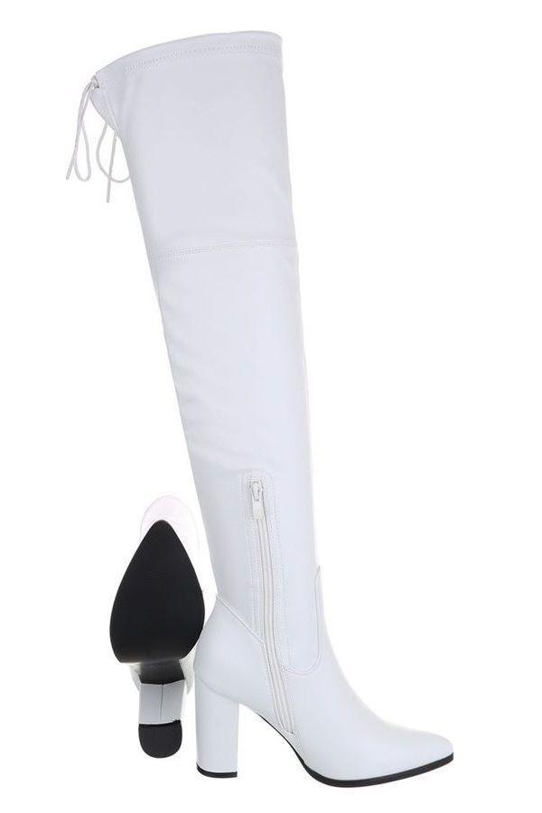 BOOTS OVERKNEE STRETCH WHITE FSW601010