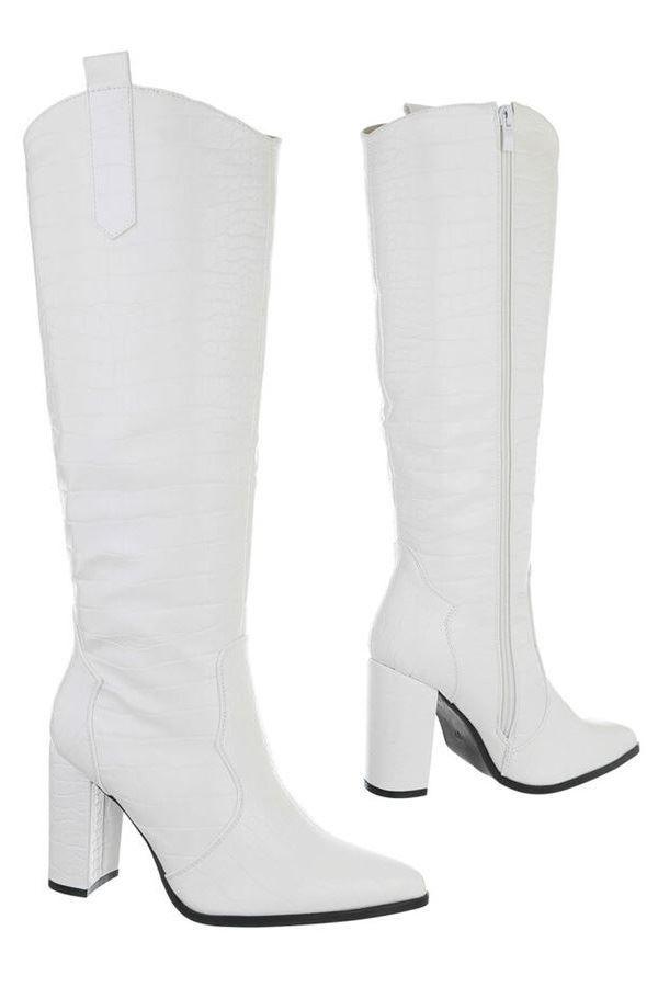 BOOTS THICK HEEL WHITE FSW601020