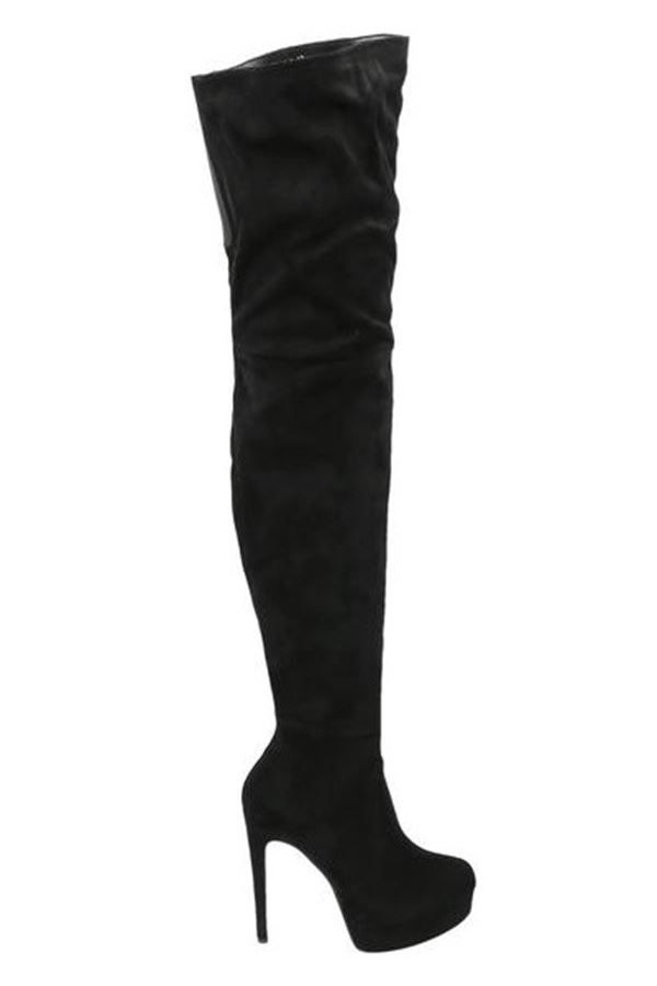 BOOTS SEXY OVER KNEE HIGH HEELS BLACK PARSL8100