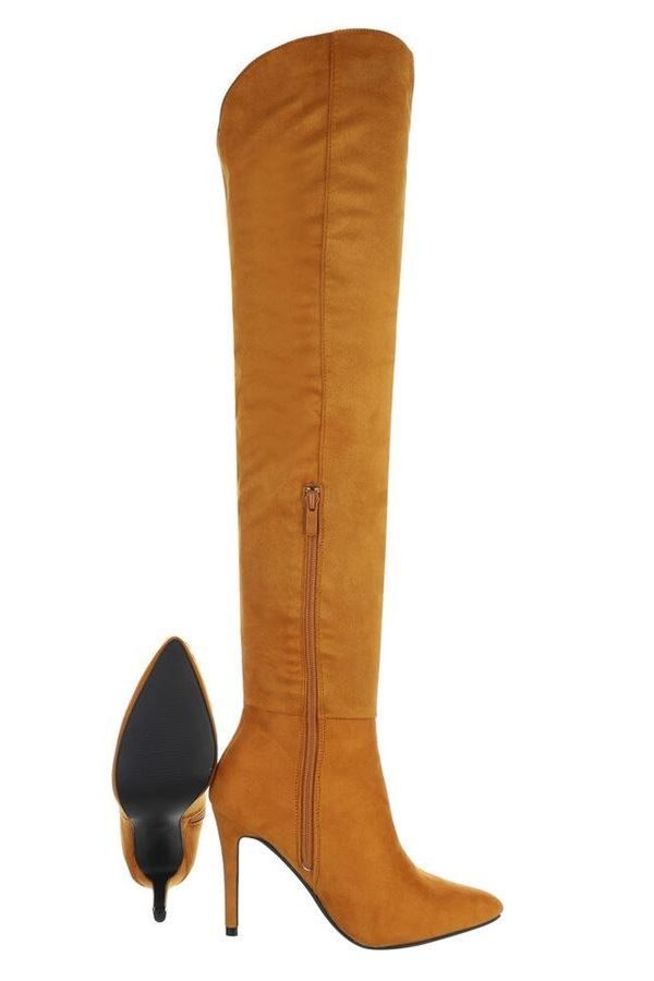 BOOTS OVER KNEE SUEDE CAMEL FSW540261