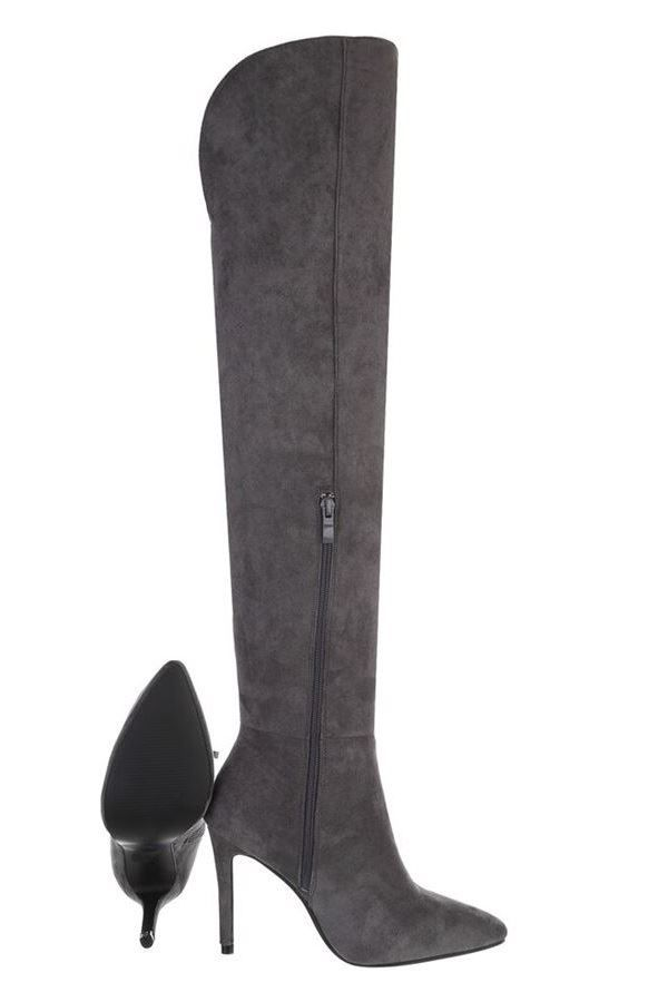 BOOTS OVER KNEE SUEDE GREY FSW540261