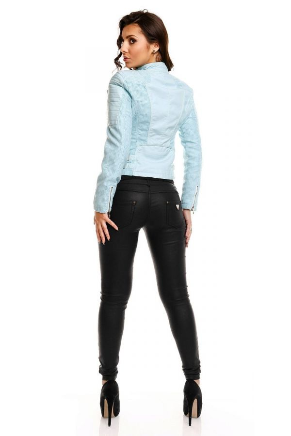 JACKET LEATHERETTE AQUA HSD81580