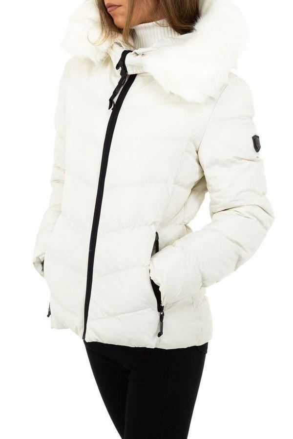 μπουφάν επένδυση κουκούλα γούνα άσπρο.